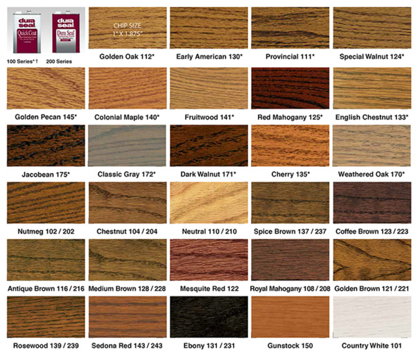 duraseal quick coat available in 27 colors 2 hour dry