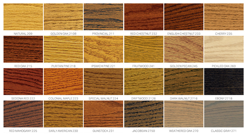 Varathane Wood Stain Colors Chart Tyres2c